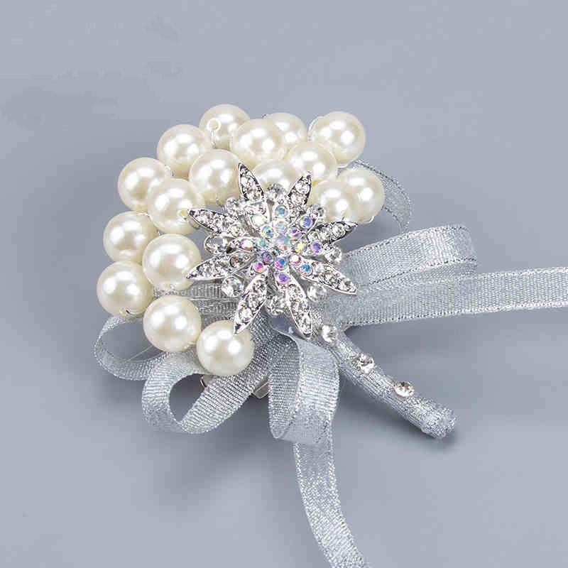 Pin On Wedding: DIY Pearls Brooch Silk Corsage Fashion Posy Grooms