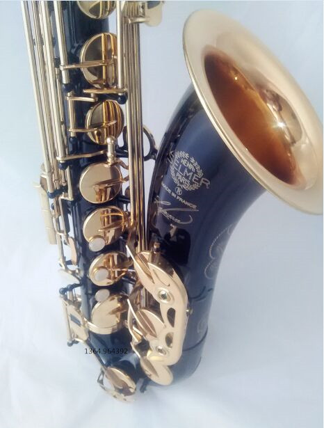 tenor saxophone New High quality Musical instruments selmer 54 B profession black gold sax Free shipping Saxophone instrument france henri selmer bb tenor saxophone instruments reference 36 drop b saxophone surface gold lacquer pink body professional sax