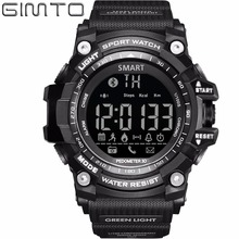 Gimto марка цифровые мужчины спортивные часы военные смарт-шагомер калорий светодиодные часы водонепроницаемый bluetooth relogio masculino hodiny