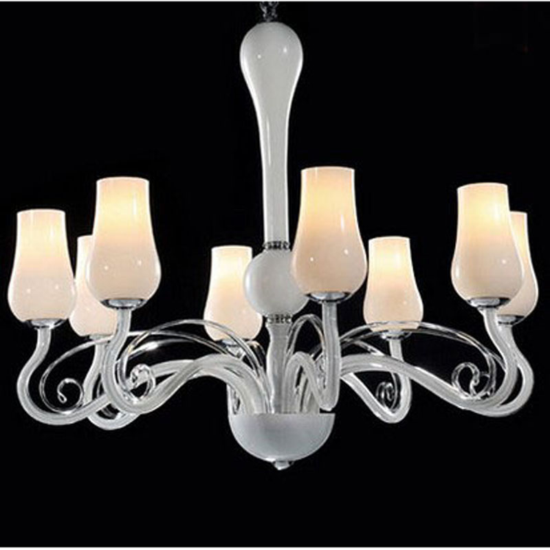 Multiple 8 Heads pendant light contracted dining-room sitting room bedroom lights LED romantic high-grade glass lamp ZX95 LU1019 a1 master bedroom living room lamp crystal pendant lights dining room lamp european style dual use fashion pendant lamps