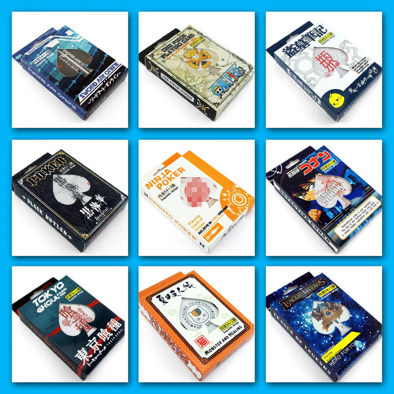 54 Pcs/Set Japanese Anime Tokyo Ghoul Hatsune  Poker Cards Cosplay Board Game Cards Postcard Fans Gift
