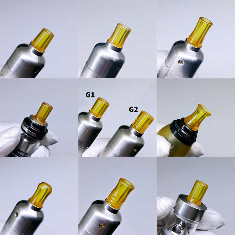 1pcs superior polished 510 mtl drip tip mini yellow PEI ultem smooth mouthpiece vape tips for RTA RDA tanks ecig accessories