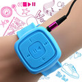 Portable Sport Mini reproductor de música MP3 reloj de pulsera impermeable reproductor de MP3 con Micro ranura para tarjeta del TF USB Flash de plato