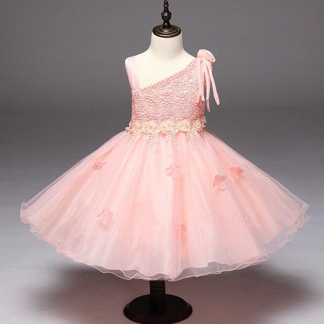 d0cafbd7b2b69 Formelle Princesse Incliné Ceinture Fleur Robes Enfant Fille Usure Fête D anniversaire  TuTu Robe Vêtements