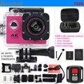 Действий Камеры F60R 2.4 Г дистанционного ultra hd 4 К 12mp Пульт дистанционного управления водонепроницаемая камера экстрим go pro стиль Спорт камера + дополнительная