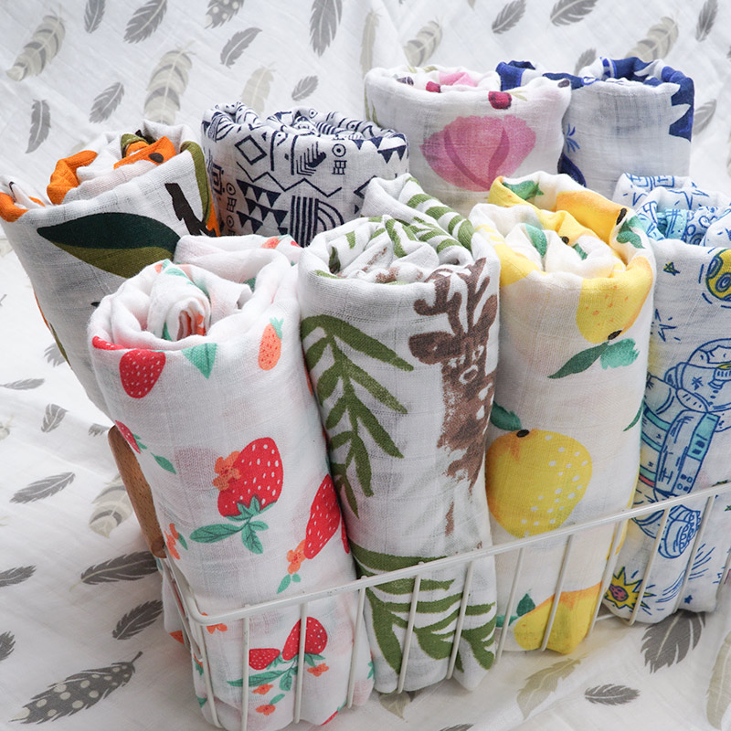 Cotton Baby Blankets Newborn Super Soft Kids Month Blankets Muslin Diapers Swaddle Infantil Wrap Baby Bath Towel Stroller Stuff
