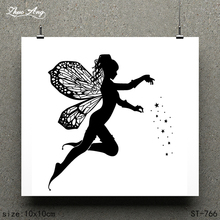 ZhuoAng Beautiful Angel / Design Clear Stamp Scrapbook Rubber Craft Card Seamless