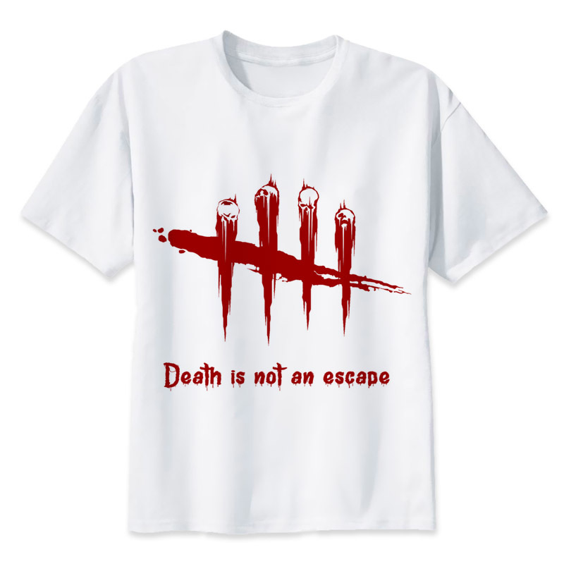 Dead by Daylight t shirt men Summer print T Shirt boy short sleeve with white color Fashion Top Tees MR1114