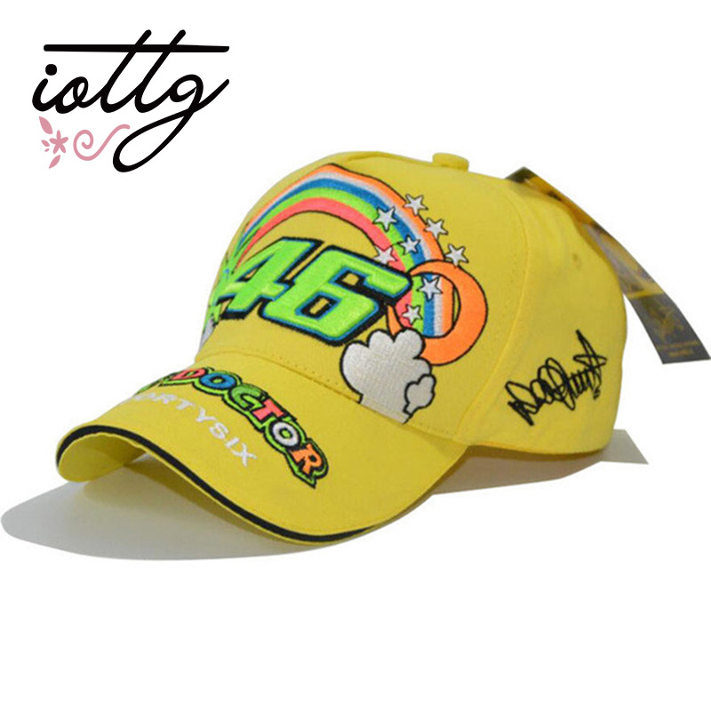 IOTTG 2017 New Rossi VR46 Embroidered Baseball Cap Teen and Adult Sports Cap Men & Women Casual Baseball Cap Snapback Racing Cap 2016 new new embroidered hold onto your friends casquette polos baseball cap strapback black white pink for men women cap