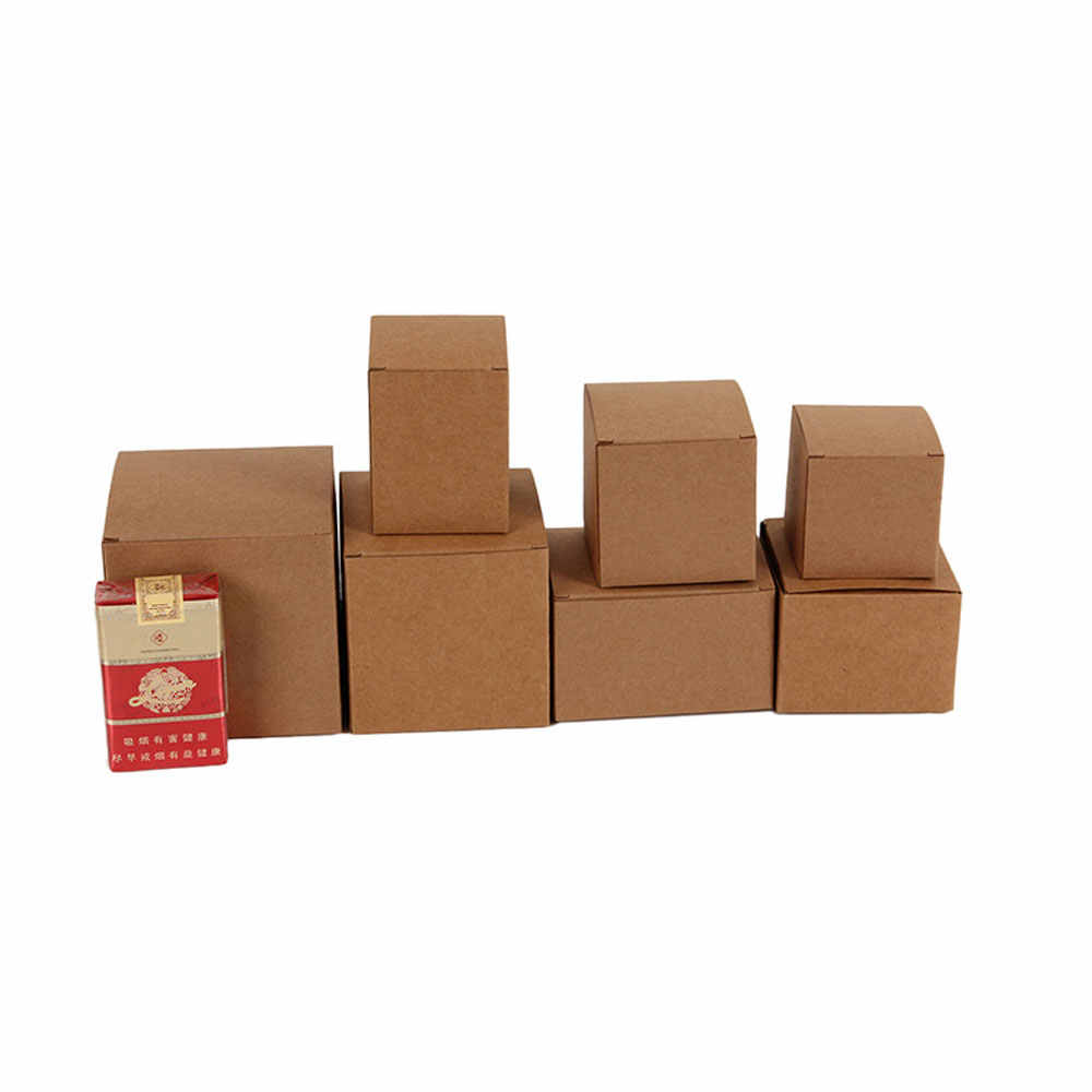 50pcs DIY Kraft Paper Candy Box Wedding Favors Gift Party Supply Birthday Christmas Party gift ideas Packaging boxes