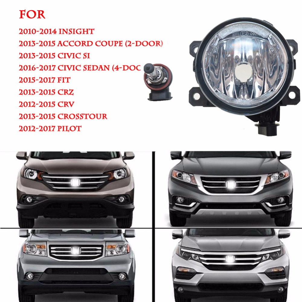 1 pair Driver/Passenger Sides Fog Light Lamps with H11 Halogen Bulbs For Acura For Ford For Nissan For Suzuki 33900-T0A-A01