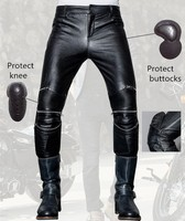 Free shipping 2017 men's leather pants uglybros UBS013 pants motorcycle pants racing leather pants protection for motorcycle