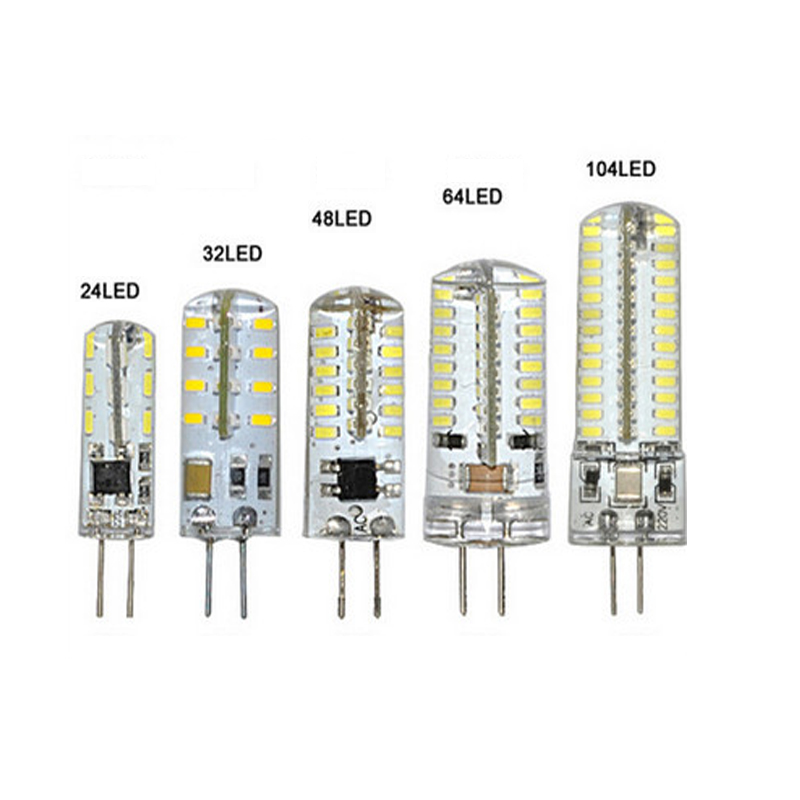 G4 LED 12V 220V AC DC 3W-12W Dimmable LED Lamp G4 24-120leds 3014 SMD Bulb Lamp 360 Beam Angle LED Bulb Crystal Home Lighting jrled g4 3w 290lm 9 x smd 5630 led warm white car reading lamp 12v