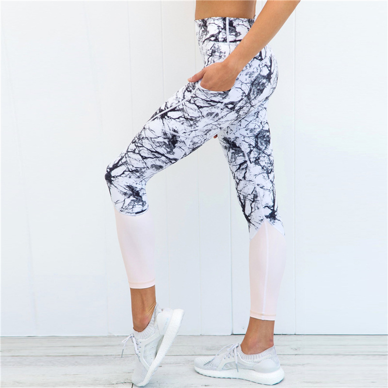 ZELLY 2018 New Fitness Leggings Patchwork Women Workout Pants Harajuku Athleisure Trousers Quick Dry Elastic Push Up Leggings