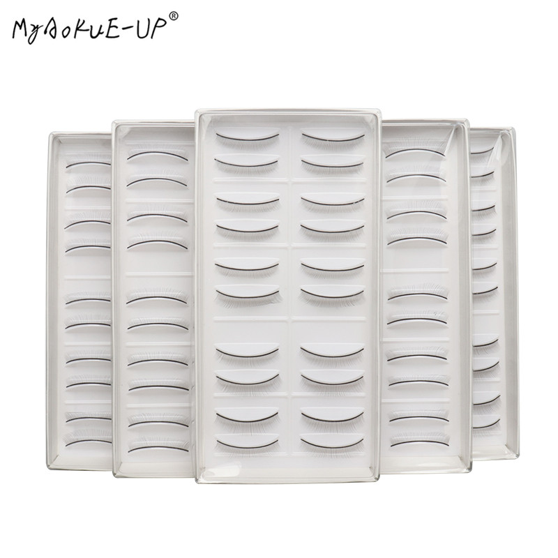 2boxes(40pcs) Individual False Eyelashes Natural Training Lashes Eyelash Extension Practicing Teaching Practice