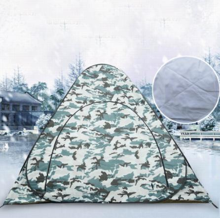 Portable One Person Ice fishing tent Privacy Cotton Warm Winter Steel Pole Automatic Pop Up Fishing Tent Outdoor Camping Tent image