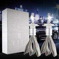Super Bright R3 9600lm H7 Xenon White 6000K Car LED Headlight Conversion Kit XHP 50 4800lm