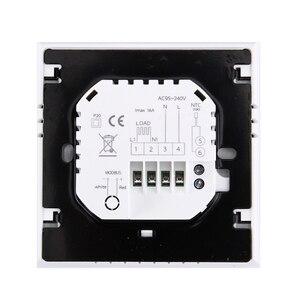Image 2 - 16A 220 V AC LCD écran tactile hebdomadaire Programmable électronique chauffage par le sol température téléphone contrôleur chambre Air Thermostat WIFI