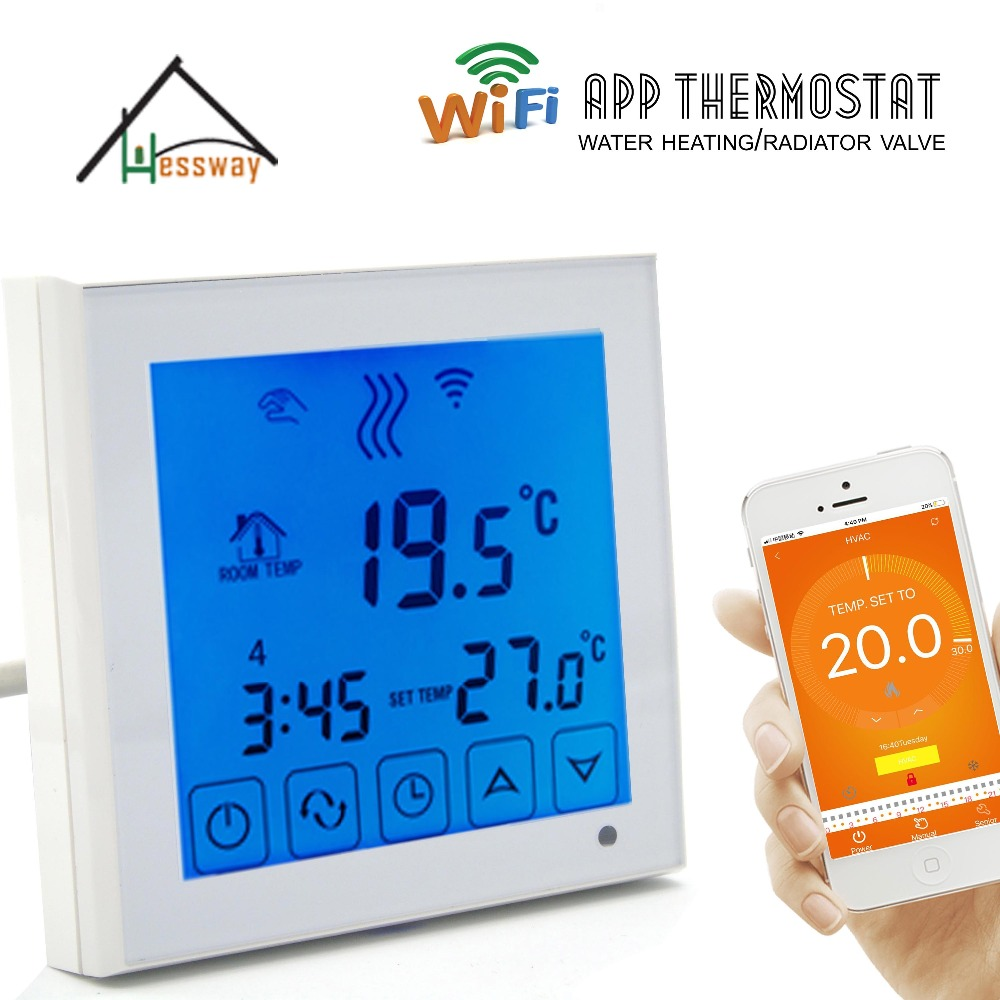EU installation wifi controlled thermostat heating wifi thermoregulator for Warm Floor electric floor heating room touch screen thermostat warm floor heating system thermoregulator temperature controller 220v 16a
