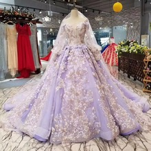 Buy lavender bridal gown and get free shipping on aliexpress lisong gorgeous lavender wedding dresses 2018 sleeves junglespirit Choice Image