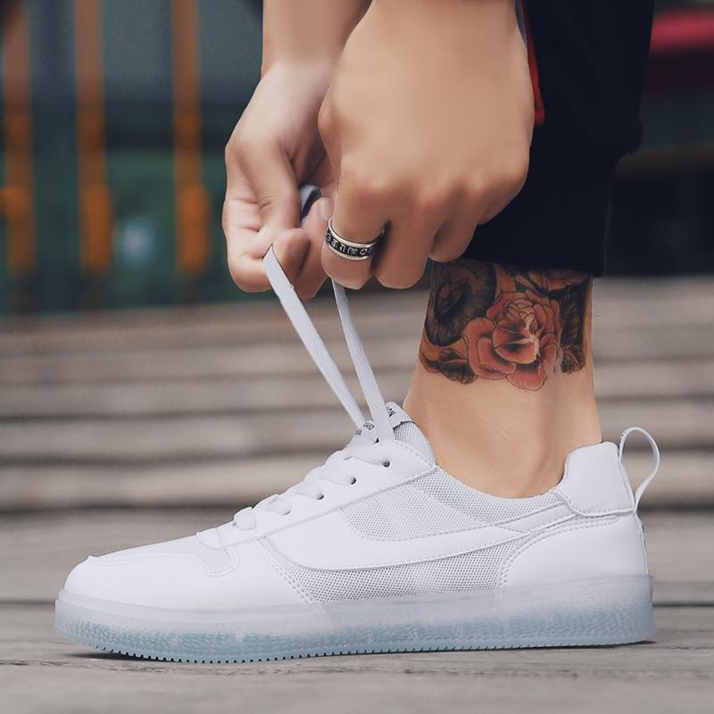 Estilo blanco Blanca Cómodos Negro Estrenar A 5 2018 Planos Plataforma Zapatos rojo Lace Up Hombres Los De Lona Retro aUOOwvqY