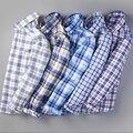Новый 2017 Весна мужские случайные рубашки с длинным рукавом 100% хлопок рубашка мужчины ретро стиль camiseta masculina Большой размер М-5XL