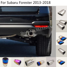 Car Cover Muffler rear back End lower Tail Pipe Dedicate outlet Exhaust trim For Subaru Forester 2013 2014 2015 2016 2017 2018