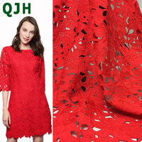 Brand Water Soluble Hollow Milk Silk Lace Fabric 4 Color African Cord Lace Embroidered Heavy