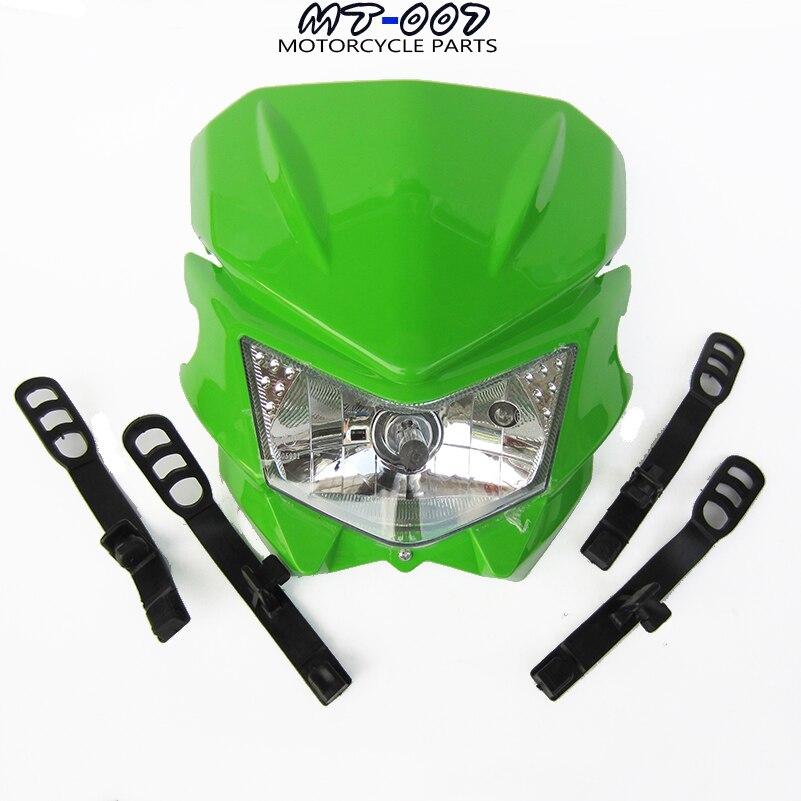 Бесплатная доставка Байк мотоцикл Универсальный видение фары, пригодный для Kawasaki KLX110 по бездорожью грязь велосипед ямы Мотокросс crf с КЛК