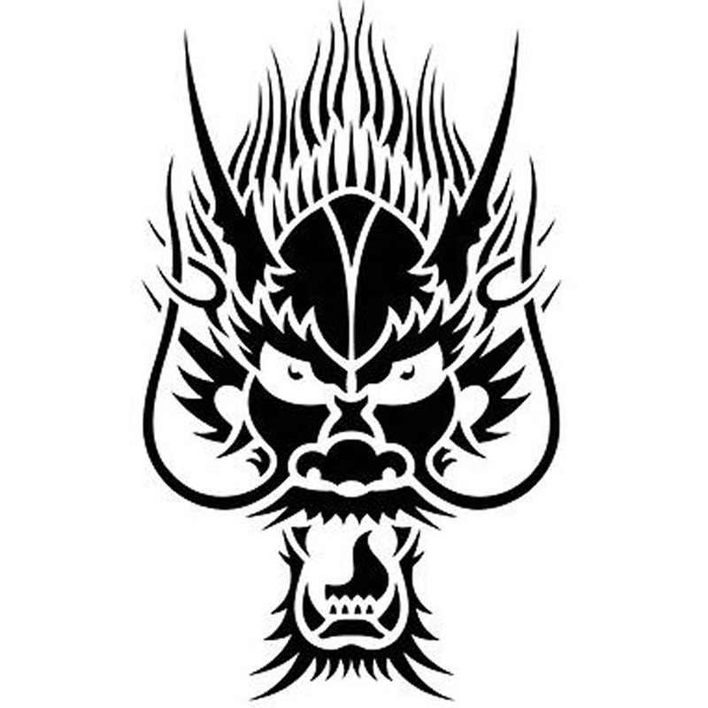 13 5cm 16 6cm Anime Manga Shield Logo Emblem Sign Dragon Car Styling Decals Car Stickers Black Silver S6 2975 Car Sticker Stickers Blackcar Decal Sticker Aliexpress