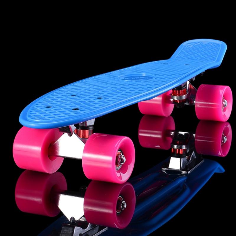 5 Pastel Couleur Quatre-roue Mini Cruiser Planche À Roulettes protection de L'environnement PP Skate Board Sports de Plein Air Pour Adultes ou Enfants