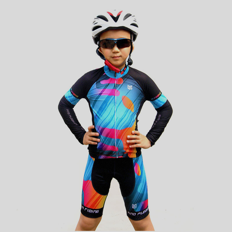 YKYWBIKE 2018 Cycling Jersey Sets Children Cycling Clothing Pro Team Boys Short Sleeve MTB Kids Sportwear Maillot Ropa Ciclismo