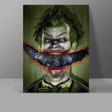 I Am Crazy Joker Wall Pictures Evil Super Hero Canvas Comics Painting Living Room Art