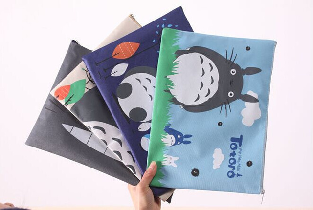 4 Colors Totoro File Folder Documents Holder