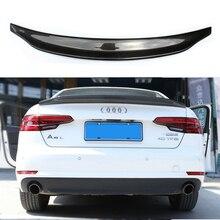 цена на A4 B9 Spoiler Carbon Fiber Spoiler Wing For Audi A4 B9 2016+ Fits 4 Doors Sedan Only Rear Trunk Back Part