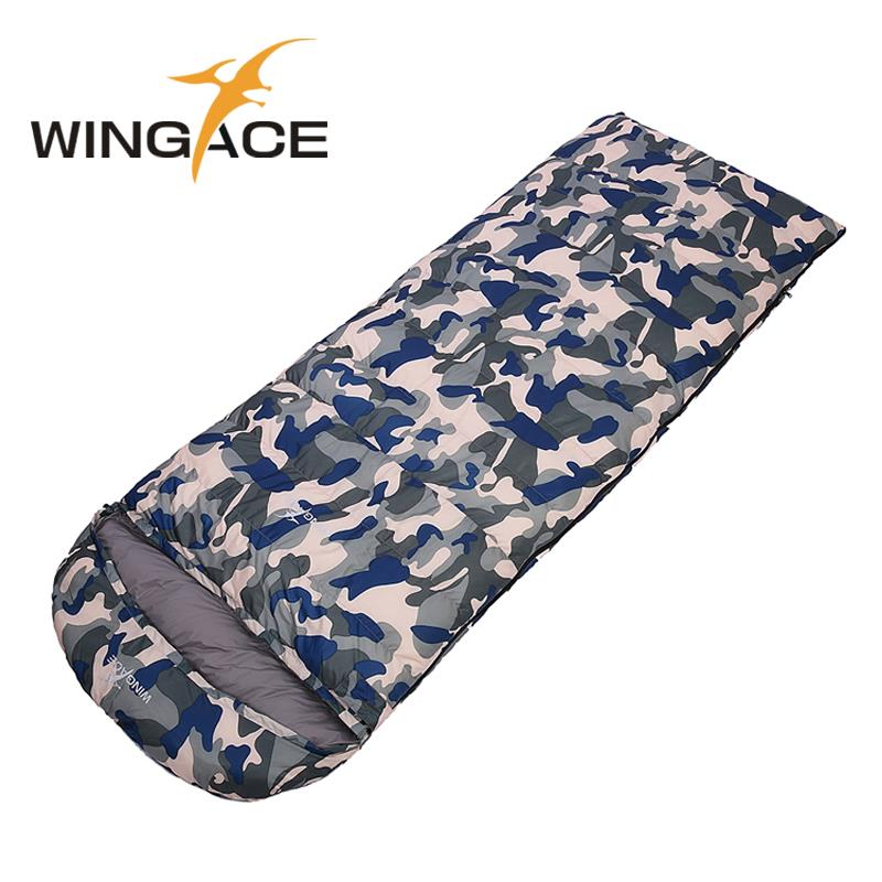 Fill 1200G 1500G 1800G 2000G Outdoor Travel Hiking Waterproof Down Sleeping Bag winter Envelope Camping Sleep Bag Adult 2016