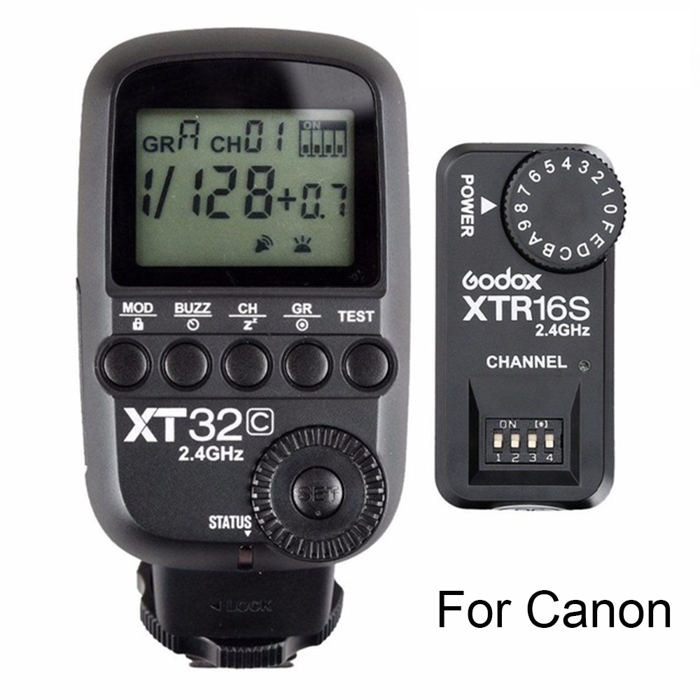 купить Godox XT32C 2.4G Wireless 1/8000s High-speed sync Flash Trigger + XTR-16S for Canon / GODOX Ving V850/V860/V850II/V860II Flahses по цене 4419.84 рублей