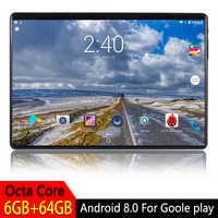 10.1 inch Tablet PC Android 8.0 For Google Play 2.5D Tempered Glass Screen Octa Core SIM 3G 4G LTE WIFI GPS RAM 6GB 64GB Tablet