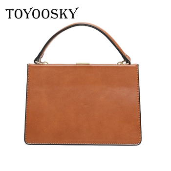 TOYOOSKY Women Bags Vintage Leather Messenger Bag Handbags Women Famous Brands Clip ShoulderBag New Arrive Ladies Crossbody Flap цена 2017