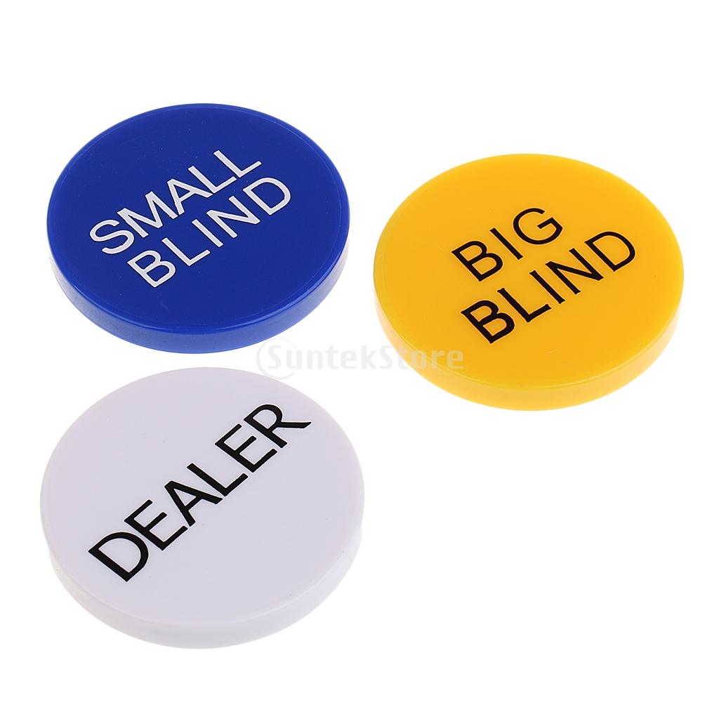 3pcs 5cm Durable Small Blind+big Blind+dealer Button Set For Party Casino Poker Card Game Props Back To Search Resultssports & Entertainment