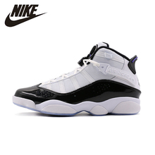 NIKE Air Jordan 6 Rings Mens Basketball Shoes Breathable Stability High Quality Lightweight Sneakers For Men Shoes#322992-104