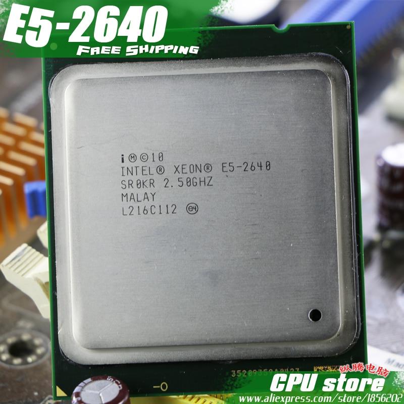 HTB1Laj7BmtYBeNjSspaq6yOOFXaJ Intel Xeon Processor E5-2640 Six Core 15M Cache/2.5/GHz/8.00 GT/s 95W LGA 2011 E5 2640, sell E5 2650 2660 CPU Free Shipping
