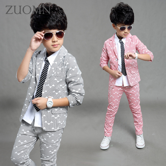 Boys Blazer 2 pcs/set Wedding Suits for Boy Formal Dress Suit Boys ...