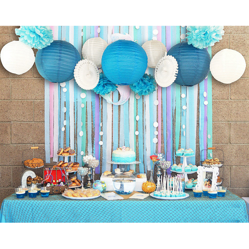 Set of 13 (Blue Pink) Beach-Themed Party Under the...