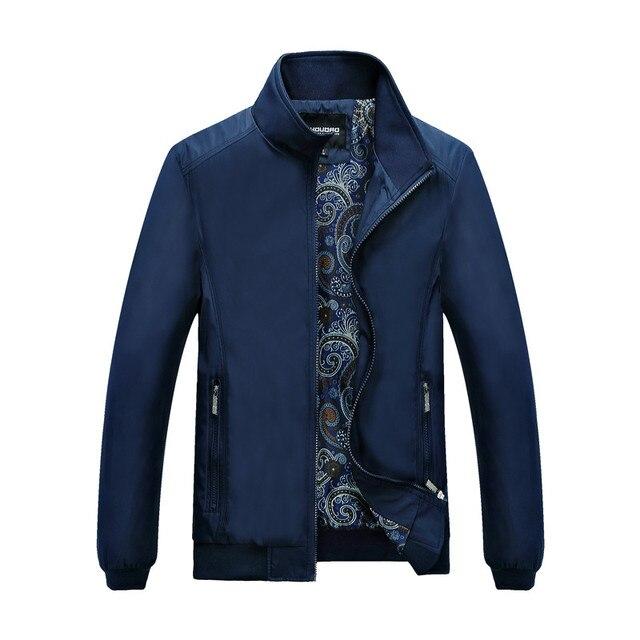 2016 New Men Jacket Solid Coats Male Casual Palace Jacket Slim Stand Collar Jacket Men Veste Homme Outerdoor Overcoat M-XXXXL