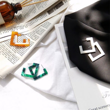 2017 Geometric Triangular Earrings Korean Simple Trend Acetic Acid Plate Temperament Personality Retro Tide Female Wild Earrings