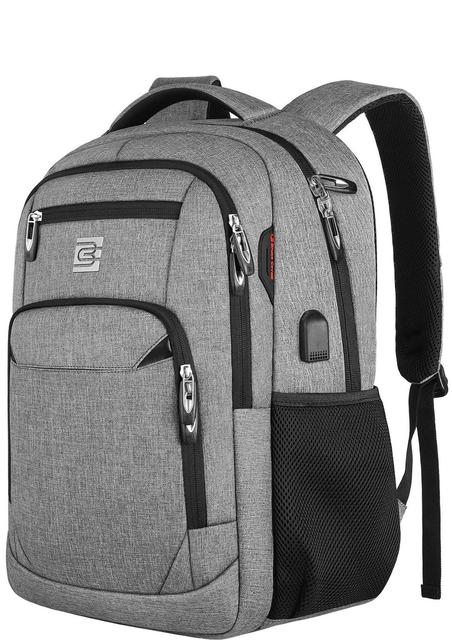 Laptop Backpack 15.6 Unisex Fits Inch Business Travel Anti Theft Slim Durable Backpack with USB Charging Port Water School Bag