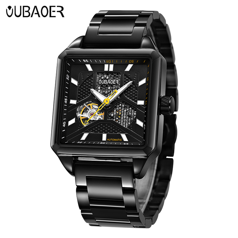 OUBAOER New Mens Luxury Mechanical Wristwatches Watch Business Wristwatch montre homme Skeleton Male Watches Fashion saat 2017 стоимость