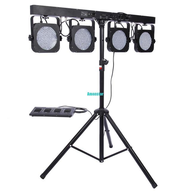 2X Mini 4BAR DMX LED RGB Par Podium DJ Bands BAR Pub Wassen Statief ...