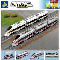 KAZI RC Electric Revival Train Tracks Rail Power Function LegSet Technic City Building Blocks Bricks Toys Gifts For Children